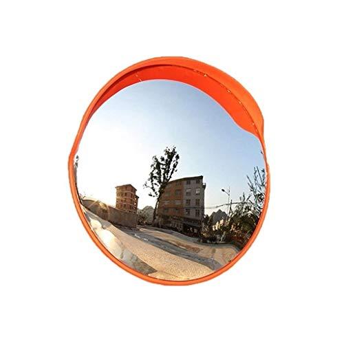 XIUYU Pool Sicherheitsspiegel 80CM Verkehrsspiegel, Anti-Auswirkungen PC-Weitwinkelobjektiv Autobahn Fahrzeugsicherheit Spiegel Wetteraußen konvexer Spiegel mit Spiegel-Schutzfolie (Größe: 80 cm)