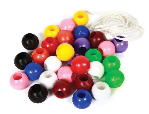 Skillofun Plastic Beads Set (50 beads), Multi Color