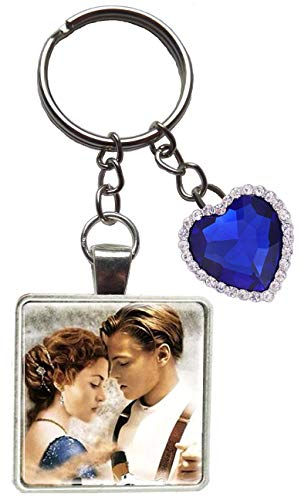 Titanic Heart of The Ocean Figure Keyring Jack Rose Boat Ship keychain