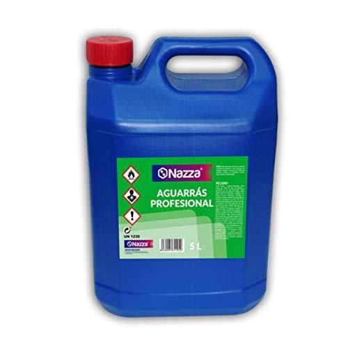 Aguarrás de uso Profesional Nazza | Diluyente orgánico sin disolventes recuperados | Envase de Plástico de 5 Litros