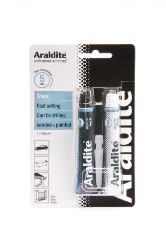 Araldite ARA400005Rapid Kleber Stahl für Metall & Edelstahl 2x 15ml Kleber