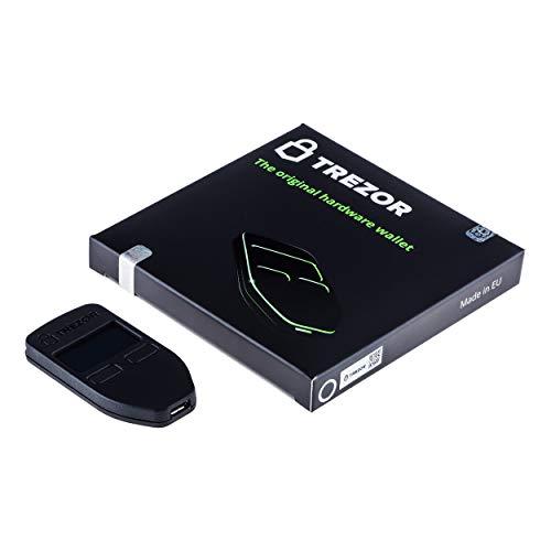 Trezor One - Crypto Hardware Wallet - El almacenamiento en frío más confiable para Bitcoin, Ethereum, ERC20 y muchos más (negro)