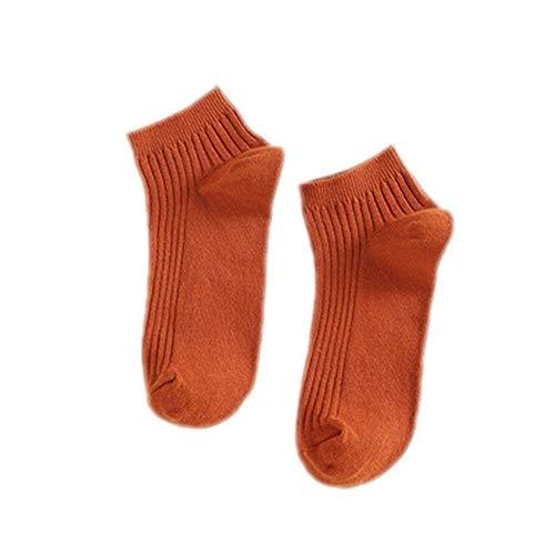 Damensocken mit Doppelnadel, Baumwolle, atmungsaktiv, für Kinder Gr. 36-40, Orange*13