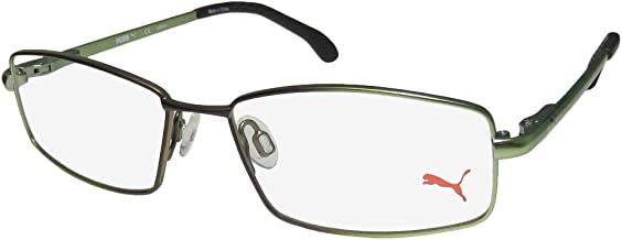 Puma 15446 Mens/Womens Spring Hinges TIGHT-FIT Designed for Weight Lifting/Yoga/Sports Activities Eyeglasses/Eyewear