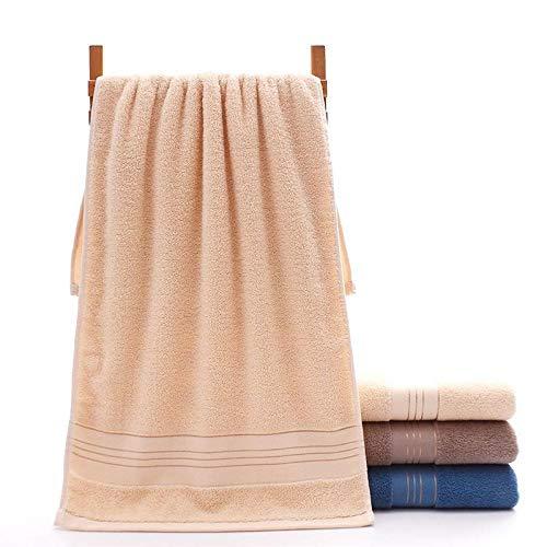XINDUO Toallas de algodón de Calidad Duradera,Toalla Absorbente Suave de algodón Puro 2pcs-Yellow_74 * 34,Toallas de baño de algodón Puro Toalla