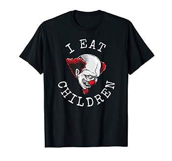 Funny Halloween Clown   I eat children scary Vintage clown T-Shirt