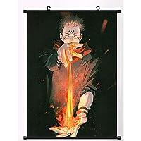 呪術廻戦 アニメポスター壁巻物ぶら下げ絵画アートプリント絵画壁巻物ポスターギフト19.7x29.5Inch/50x75cm