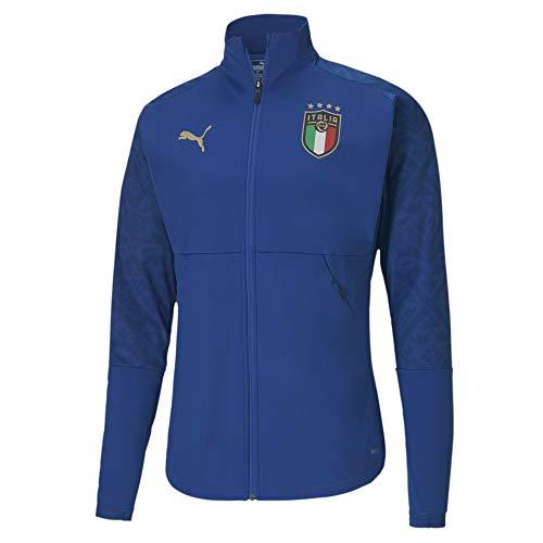 PUMA Italia Herren Heim Stadium Jacke Team Power Blue - Team Gold M