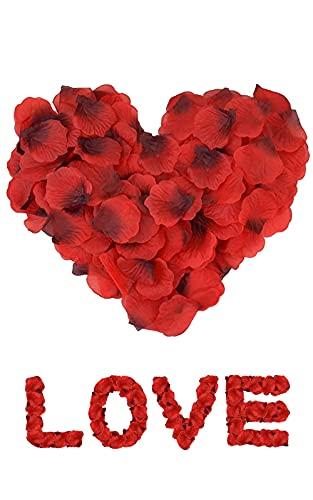 4000 Petali di Rosa Artificiali Petali di Fiori di Seta Finti Petali di Rose Decorazioni per San Valentine Matrimonio Anniversario Proposta di Matrimonio Compleanno Casa Deco