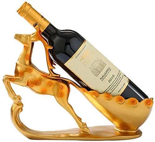 KUMOPYU Estante para Vinos Estante para Vino Estante para Vino De Una Sola Botella Estante para Barra De Sala De Estar Estante De Exhibición Vinotecas Copas De Vino botellero Estante De Vino