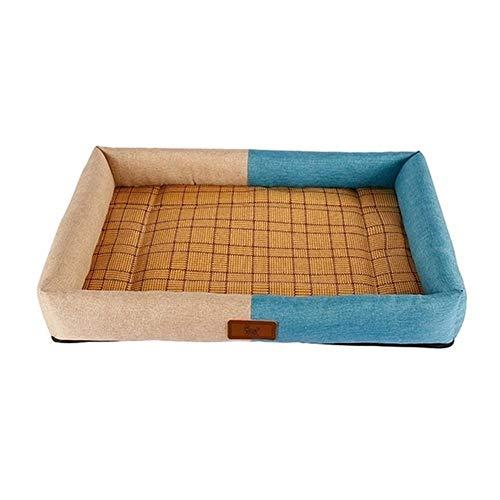 mdtep Cama para mascotas de verano para perros, cómoda y duradera, lavable (color: A, tamaño: S)