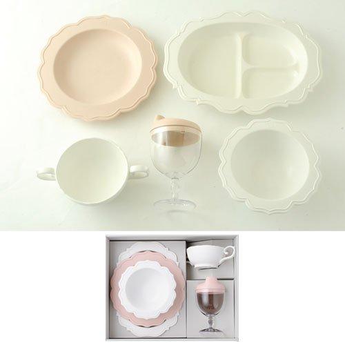 Reale(レアーレ) フルセット(スープカップ、グラス&キャップ、三食プレート、プレート&ボール) ピンク