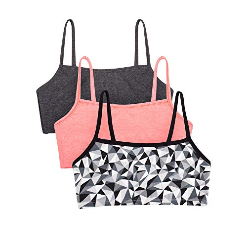 Fruit of the Loom womens Spaghetti strap Pullover Sports Bra, 3-Pack