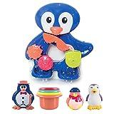LUDI - Un grand pingouin pour jouer à l'heure du bain. Dès 12 mois. Fixations...