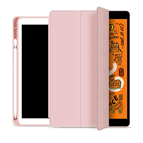 iPad Air 4th Generation Protective Case 2020 10.9-inch protective case with pen holder Tri-fold smart protective case soft TPU back cover-A-3