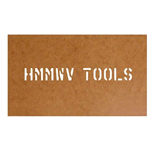 HMMWVl Tools 32149 Stencil - Plantilla para estarcido (cartón al óleo, 2,5 x 21,5 cm), diseño militar