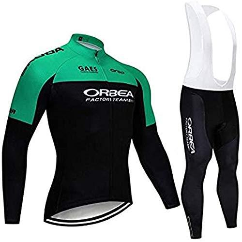 Ciclismo Maglie Professionisti Uomo Abbigliamento Ciclismo Primavera e Pantaloni Salopetto Traspirante Maglia Zip MTB (Molti Stili)