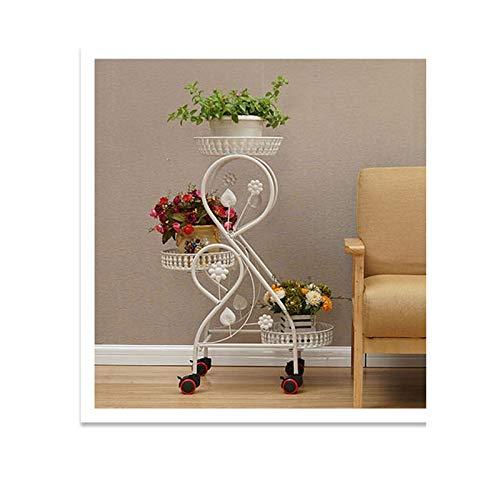 YUXO kamerplant bloempot meerlagige bloemstandaard vensterbank bureau vlezige plant creatieve ijzeren kunst balkon bloem standaard bloempot rek
