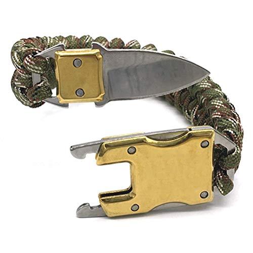 ABCDJHH Pulsera de cuerda de 2,54 cm oculta, multiusos, táctica de supervivencia, se utiliza para autodefensa al camping, senderismo y pesca.