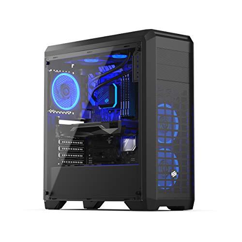 Sedatech Expert Gaming PC Intel i7-9700KF 8X 3.6GHz, Geforce RTX 2060 6Gb, 32 GB RAM DDR4, 1TB SSD NVMe M.2 PCIe, 3TB HDD, USB 3.1, Kartenleser. Desktop Computer, Win 10