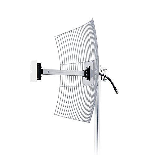 Antena Parabólica de Grade para Telefonia Celular 4G 20 dBi, Aquario, CF-2620, Cinza, Médio