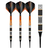 RED DRAGON Amberjack 1 Soft Tip Dartpfeile 18g – 90% Tungsten Darts Set mit Flights & Schäfte