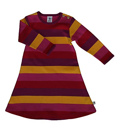 Leela Cotton Robe à Manches Longues en Coton Bio pour bébé et Enfant - Multicolore - 86 cm/92 cm