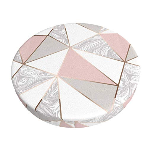 COOL-SHOW Pink Rose Gold Bar Stool Cushion Covers,Anti-Slip Padded Round Chiar Cushion 13in