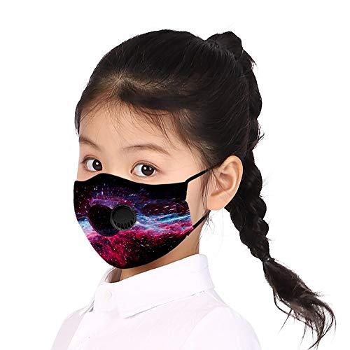 PPangUDing Kinder Mundschutz Waschbar Wiederverwendbarer mit Motiv Atmungsaktive Staubdicht Mund und Nasenschutz Multifunktionstuch Bandana Halstuch für Junge und Mädchen