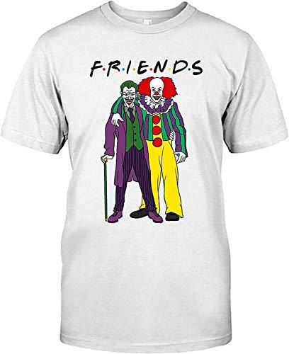 AKDesigns Halloween Joker met Bestfriend Pennywise Grappig Kostuum T Shirt