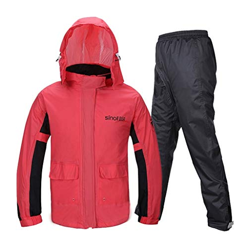 Trajes de lluvia, traje impermeable para hombre, chaqueta impermeable para hombre, pantalones de trabajo, camping, pesca (tamaño: grande)