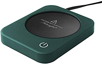 Coffee Mug Warmer, ANBANGLIN Coffee Cup Warmer for Desk Office Use, Electric Beverage Warmer with 3 Temperature Settings, Auto shut off after 4 Hours (Green)
