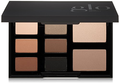 Glo Skin Beauty Eye Shadow Palette in Elemental Eye - Smokey Black - 8-Color in 4 Shade Options - Powder Eyeshadow Kit