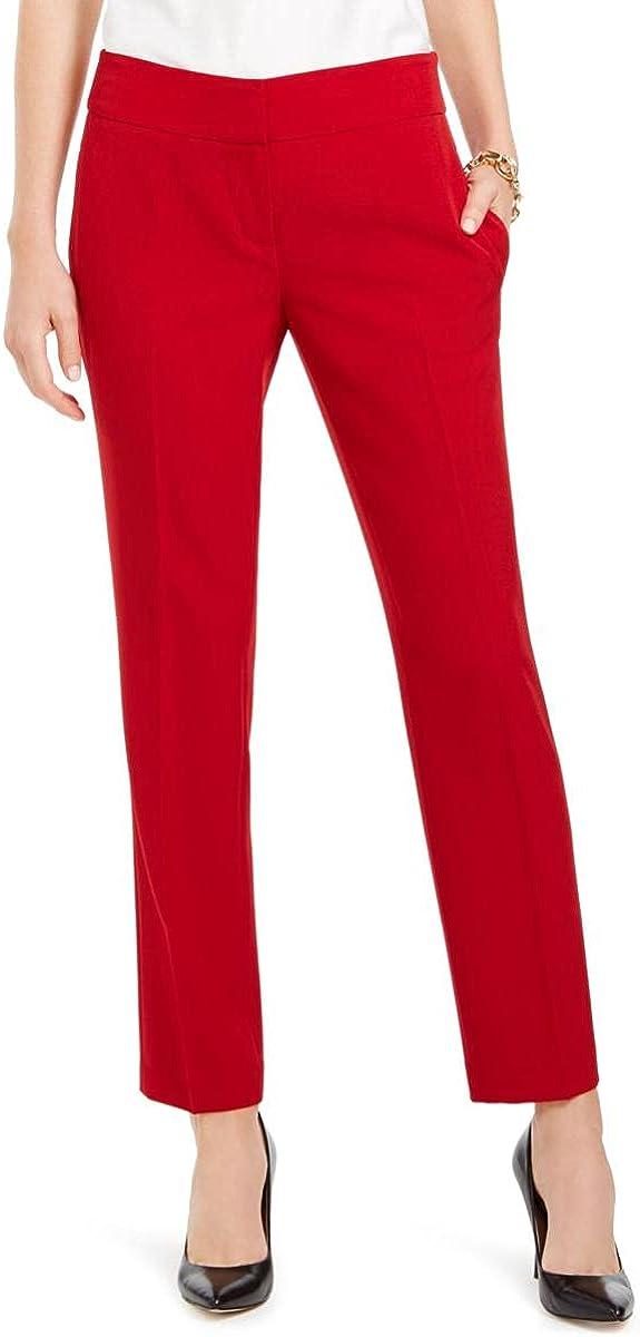 Kasper Womens Petites Slim Straight Leg Dress Pants
