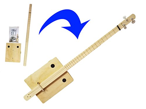 Complete'Pure & Simple' Cigar Box Guitar Kit - the Easiest CBG Kit to Build, Bar None!