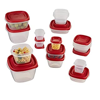 Rubbermaid Easy Find Lid 34-Piece Food Storage Container Set, Red (B0016P8N9S) | Amazon price tracker / tracking, Amazon price history charts, Amazon price watches, Amazon price drop alerts