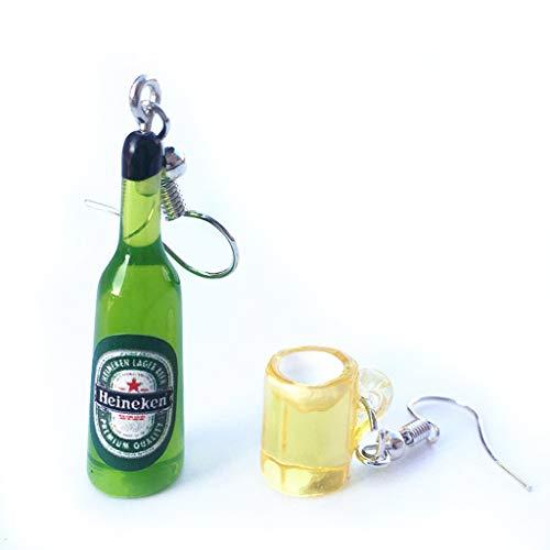 Faguo Mini Mignon Bouteille de bière Verre à vin asymétrique résine Boucles d'oreilles Pendantes Bijoux de Mode