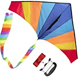 WISESTAR Large Delta Rainbow Kite for Kids and Adults with 2 Kite...