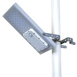 Farola solar HEX 780X (Luz LED blanca cálida), ajuste de potencia de 3 niveles, batería de litio, se adapta a un poste de un diámetro máximo de 2.5