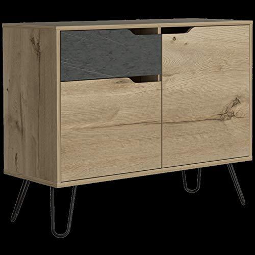 GXK Modern Pine Effect Living Room Furniture Sideboard Bookcase Tables (Color : Sideboard)