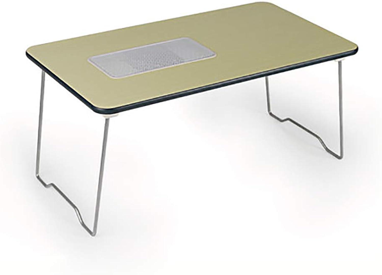 Byx- Folding Table - Cooling Laptop Desk Bed Desk Writing Desk Lazy Folding Small Table -Folding Table (color   A)