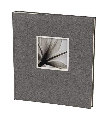 Dörr Unitex Fotoalbum in 29x32 cm 100 Creme Seiten Jumbo Buchalbum Fotobuch: Farbe: Grau