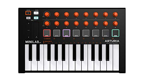 Arturia MiniLab MKII 25-Key USB MIDI Controller (Orange Edition)