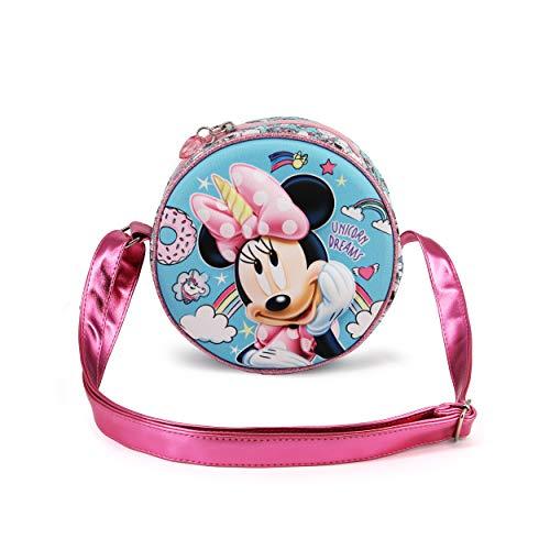 KARACTERMANIA Minnie Mouse Licorne-Sac à Bandoulière Rond 3D Multicolore Taille unique 00506
