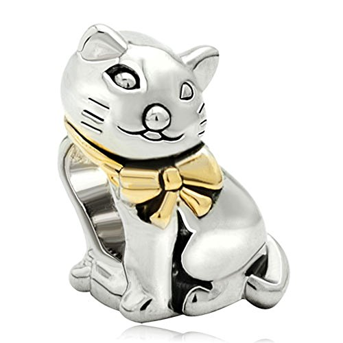 Pugster Cat Animal Charm Sale Silver Plated Beads Fit Pandora Jewelry Charms Bracelet Gifts