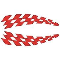 X-wuxue 車のホイールの眉毛パターン車ステッカー反射ステッカービニール車の安全性 X-wuxue (Color Name : Red Car Sticker)