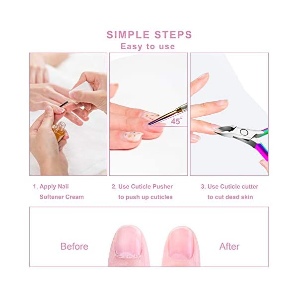 Beauty Shopping KENED Nail Care Kit – 3 in 1 Manicure Set – Cuticle Nipper, Cuticle Cutter