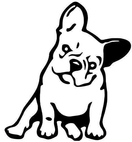 French Bulldog Dog - Sticker Graphic - for Window Wall Laptop Car Water Bottle Truck Sticker - Dye Cut Sticker