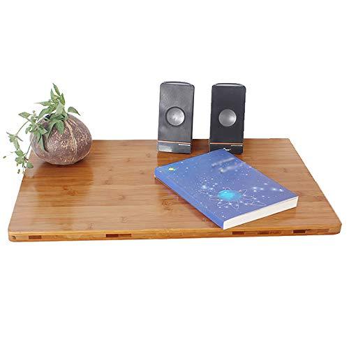 LYHD klapptisch Wand An der Wand montierter Klapptisch, Drop-Leaf-Computertisch Laptop-Tisch Couchtisch, Hochleistungsküche und Esszimmertisch aus Bambus mit kaltgewalzten Stahlregalhalterungen