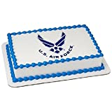 Whimsical Practicality US Air Force Emblem Edible Icing Image for 1/4 Sheet Cake